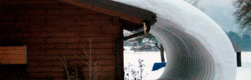 Устройство снегозадержания на кровле из профнастила