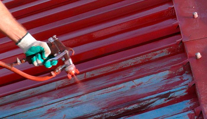 Покраска профнастила с помощью пульвелизатора своими руками