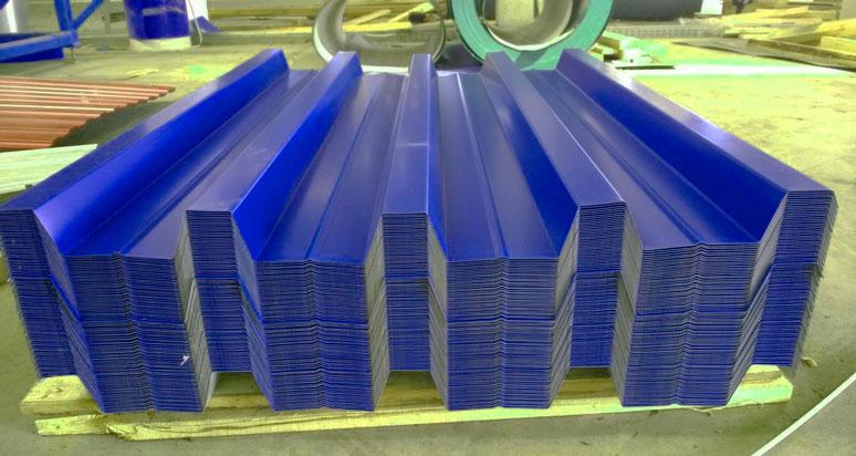 Профилированный лист Н60 синий с полимерным покрытием