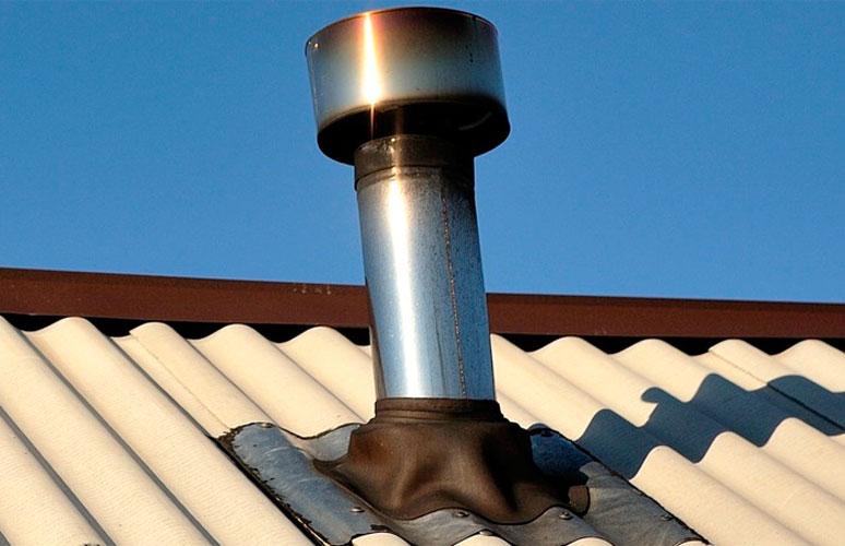 Устройство дымохода на крыше из шифера коаксиальные дымоходы для газовых котлов купить в ростове
